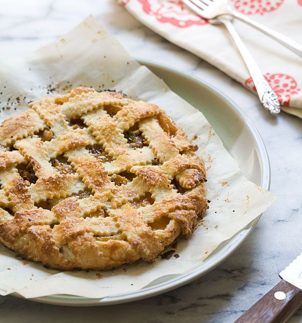 Apricot, Sage and Hazelnut Galette (with a lattice top!)