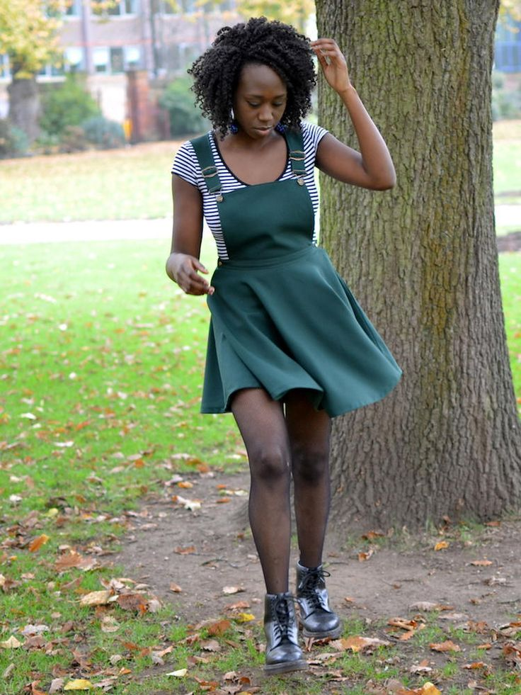 Pinafore Dress with Circle Skirt Drafting Tutorial | Love fashion trends from the 90s? Then you'll love this fun sewing project!