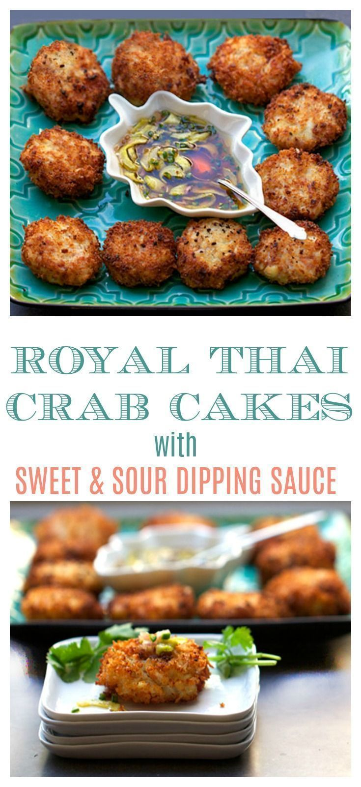These Royal Thai Crab Cakes are made with fresh crab, ham and fluffy rice. They're delicately textured and showcase the natural sweetness of the crab. Totally delicious and fit for royalty! #Crab #recipe #thailand
