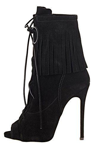 Guoar High Heels Schnür Boots Große Größe Open Freie Toe Samt Fransen Kurzschaft Stiefel Ballsaal Party - http://on-line-kaufen.de/guoar/guoar-high-heels-schnuer-boots-grosse-groesse-toe