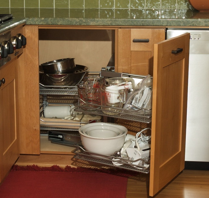 "Inexpensive Kitchen Storage Ideas: ""Magic Corner"" Kitchen Cabinets"