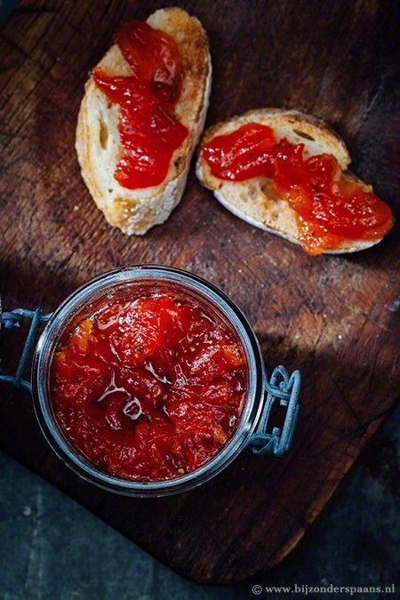 Tomatenjam met rozemarijn mermelada de tomate Bijzonder Spaans
