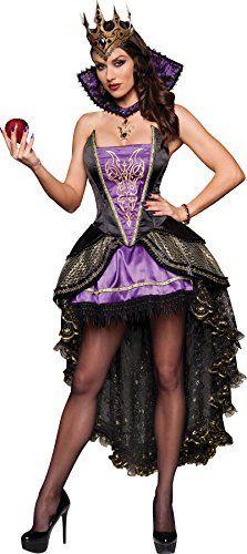 GTH Women's Renaissance Snow White Evil Queen Theme Party Fancy Costume
