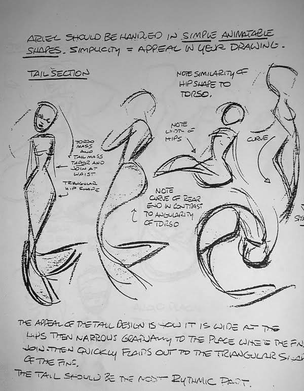 Living Lines Library: The Little Mermaid (1989) Glen Keane Ariel...almost looks like a gesture drawing...hmmmm.