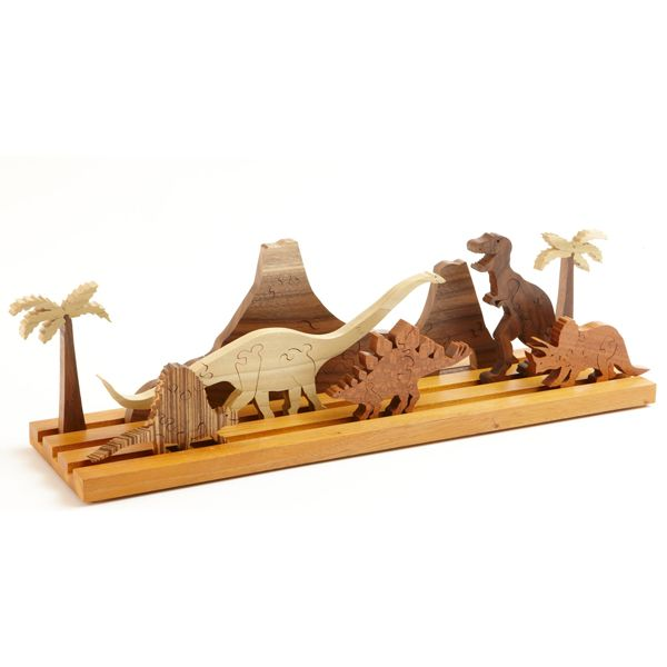 Scrollsaw Dinosaur Puzzle Woodworking Plan — Park Jurassic in front of a youngster and watch his or her imagination go into high gear. It's dino-mite! http://www.woodstore.net/scdipu.html