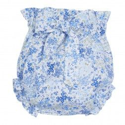 Baby bloomers floral print - Blue