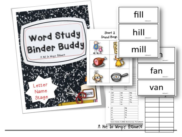 17 best buddy study images on pinterest word study english the word study binder is a resource designed to support teachers with the implementation of word fandeluxe Image collections