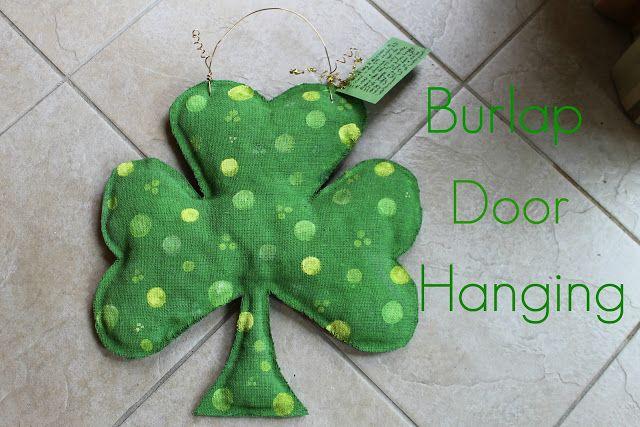 How to make Burlap Door Hangings