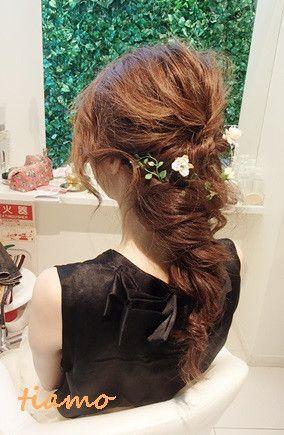 美人花嫁さまのルーズな外人風style♡リハ編 の画像|大人可愛いブライダルヘアメイク 『tiamo』 の結婚カタログ