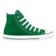 Green Converse High Tops