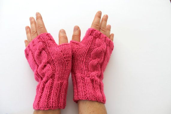 Fingerless gloves . Knitting .  fashion . Girls  by gloveshop, $32.90