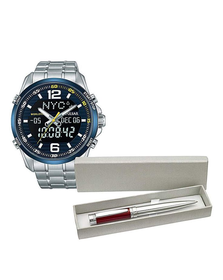 awesome Buy Pulsar Gents Bracelet Watch & Free Pen for £129.00 just added...