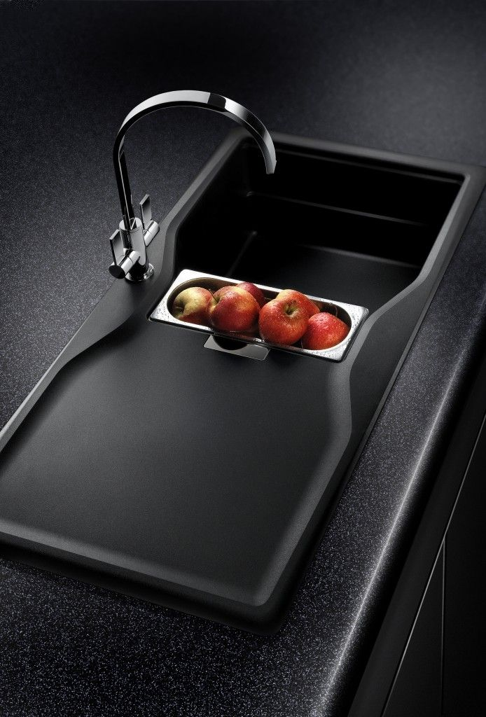 Black kitchen sink detail // Product Design #productdesign