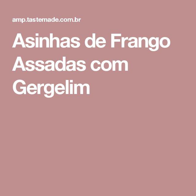Asinhas de Frango Assadas com Gergelim