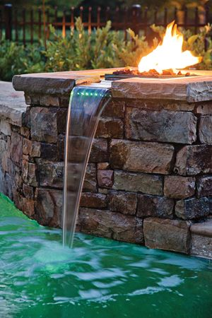 Could I Incorporate A Gas Fire Feature With Top Of Pool Waterfall?