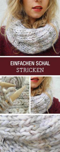 Fang an mit Stricken: Wir haben für Dich eine Anfänger-Strickanleitung für einen einfachen Schlauchschal / start knitting: easy diy tutorial for a loop scarf via DaWanda.com