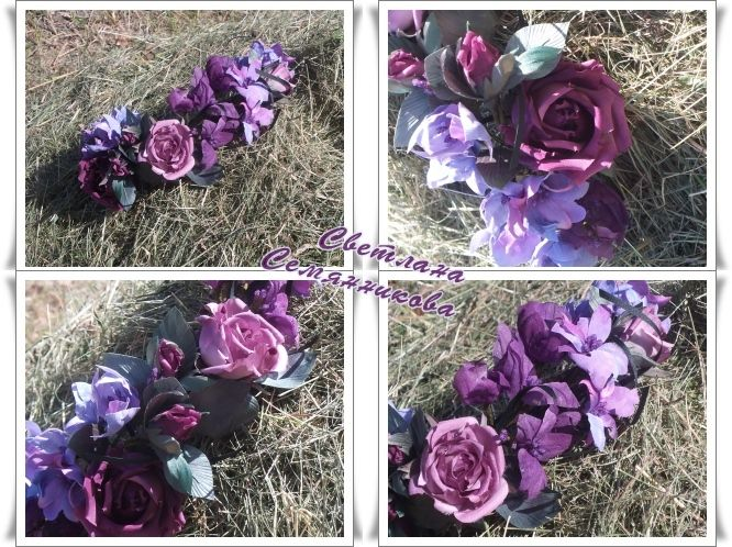 Wreath of roses. silk In Stock • $56 http://mix-flowers.ru