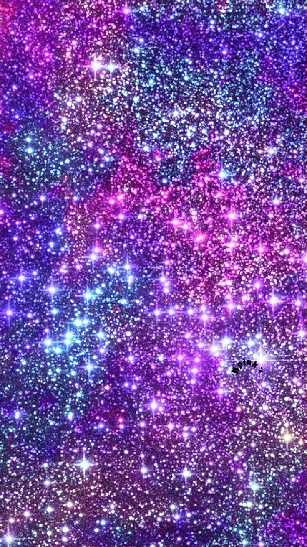 Glitter Stars At Midnight Wallpaper