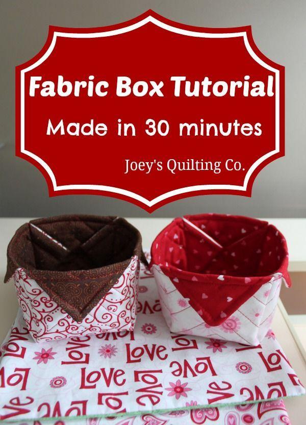 Tecido Box Tutorial - feito em 30 minutos