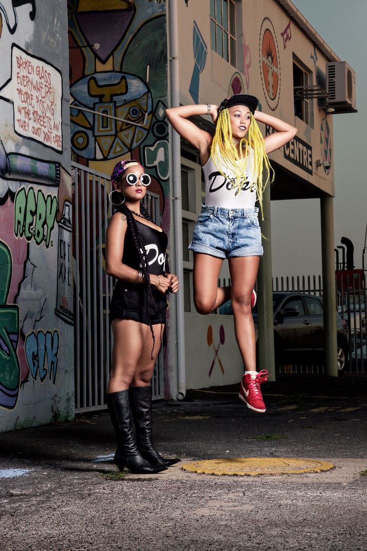 These two South African celebrities and a force to be reckoned with. DJ Doowap & Lex LaFoy model some Bianca Kim fashions in this hip-hop street shoot.