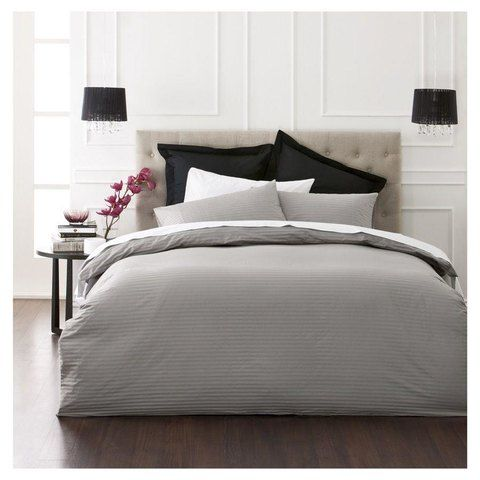 Charcoal Quilt Cover Set - King Bed