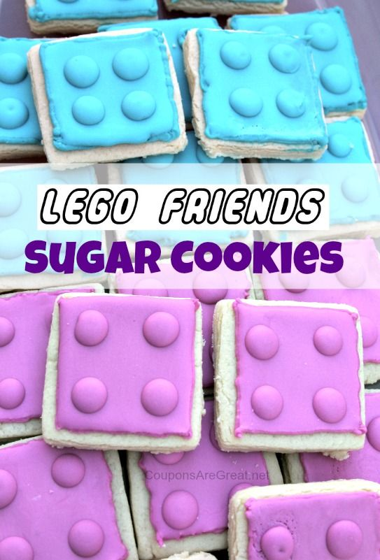 LEGO Friends Sugar Cookies: Perfect for a LEGO Friends Party #LEGO