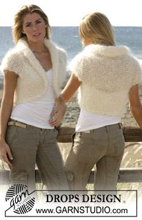 DROPS shrug with short sleeves, free pattern.