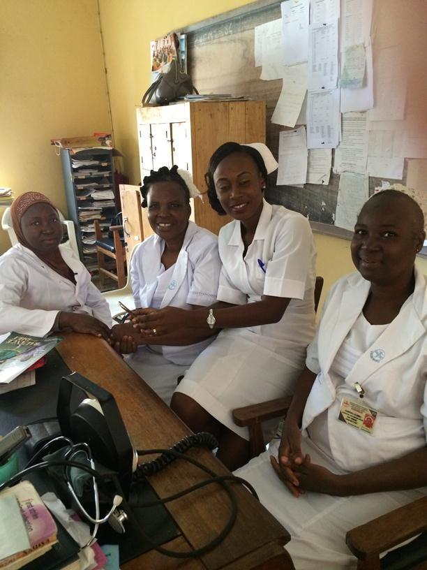 Resident doctor and nurses at Obafemi Awolowo University Teaching Hospital, Ile Ife, Nigeria