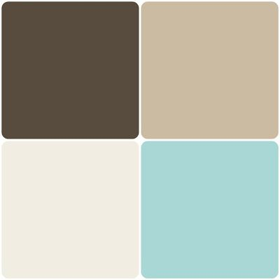 Top dried leaf gobi desert bottom toasted marshmallow - Bathroom color schemes brown and teal ...