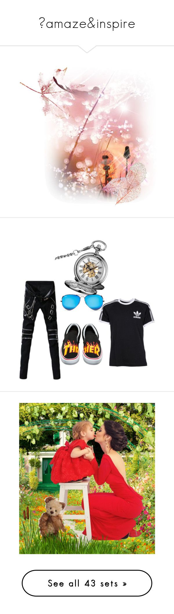 """💝amaze&inspire"" by lolla-cher ❤ liked on Polyvore featuring jojona, art, adidas, Vans, Ray-Ban, Akribos XXIV, men's fashion, menswear, summerwedding and Tory Burch"