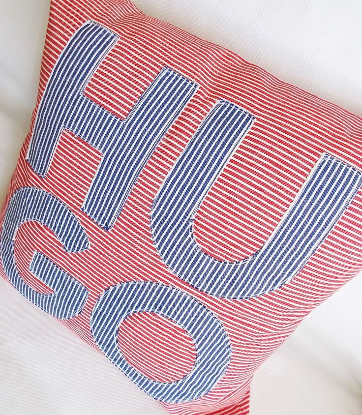 HUGO: French personalized cushion cover