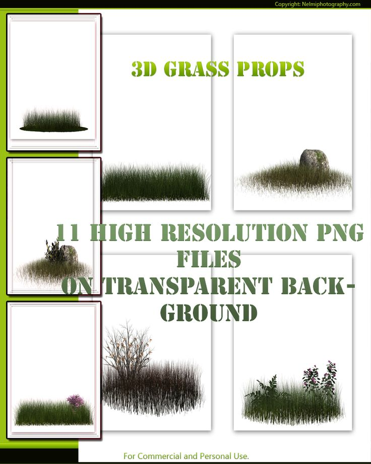 I often use 3D grass props in my fantasy backgrounds. Here is a set of 10 high resolution props for designers