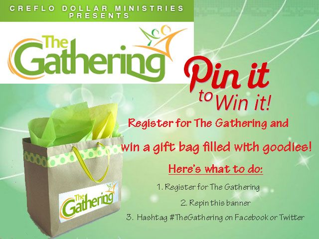 Register for #TheGathering and win fun prizes! All gifts can be redeemed at the Social Media table at the event.