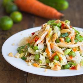 Asian Chicken Salad with Sesame Chili Vinaigrette