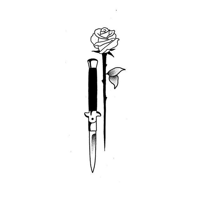 Stiletto Knife Tattoo Designs: De 25+ Bedste Idéer Inden For Knife Tattoo På Pinterest
