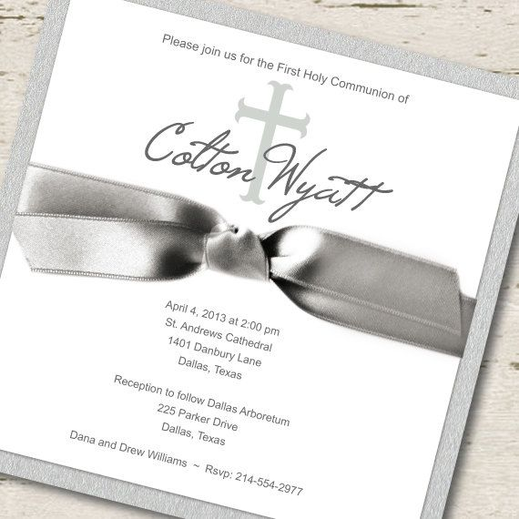 45 best first communion invitations images on Pinterest First