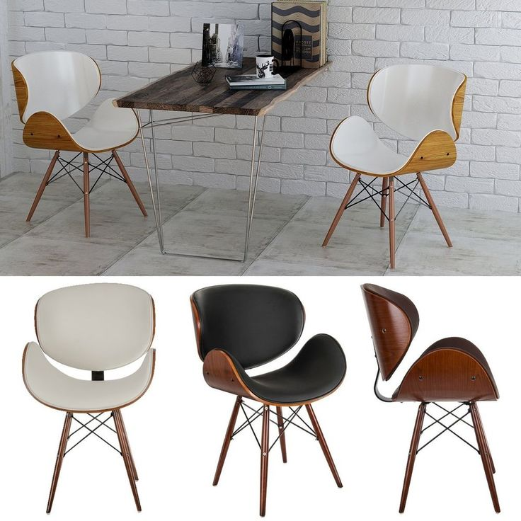 2pcsRetro Dining Chair Living Room Cafe Bar Office Chair Beech Wood Leg Chic UK