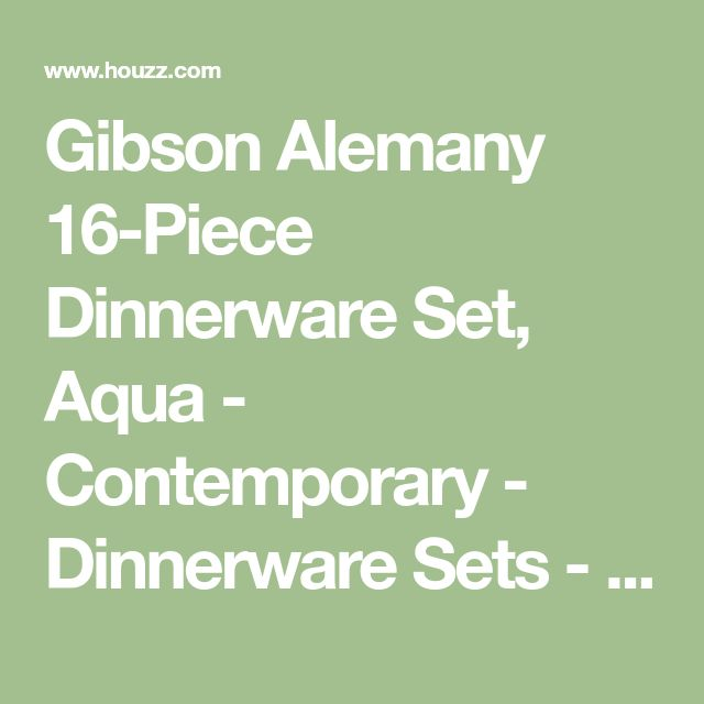 Gibson Alemany 16-Piece Dinnerware Set, Aqua - Contemporary - Dinnerware Sets - by Bargain4all
