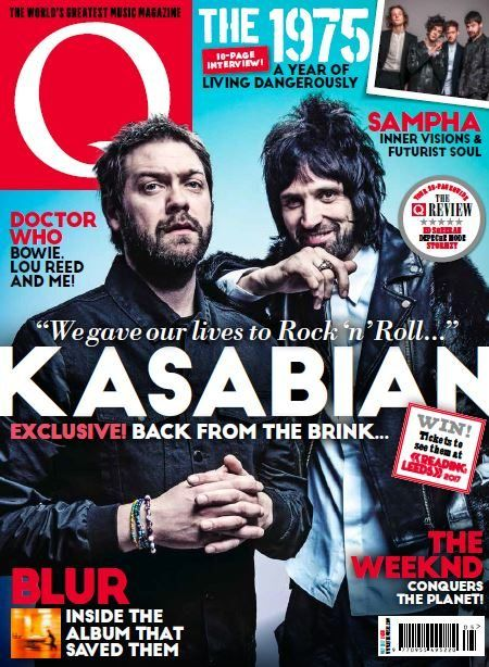 In this month's issue of Q an exclusive interview with Kasabian.  10-page interview with The 1975, a year of living dangerously.  28-page guide: Q the Review  Blur- inside the album that saved them.
