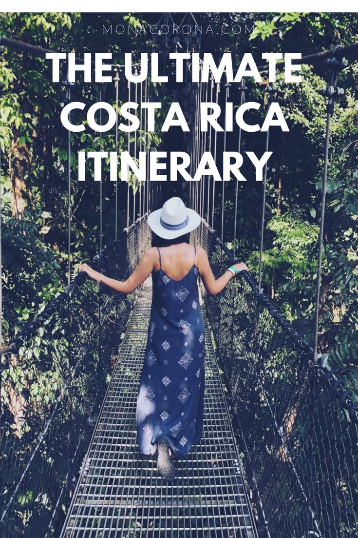 The ultimate 7 day Costa Rica Itinerary. Get to see the best of the rainforest and beach! #costarica #arenal #lafortuna #manuelantonio #centralamerica