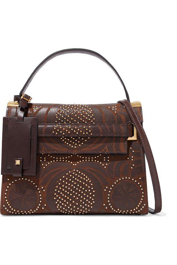 de22af70f5 VALENTINO Studded laser-cut textured-leather shoulder bag Designer Shoulder  Bags, Valentino Garavani
