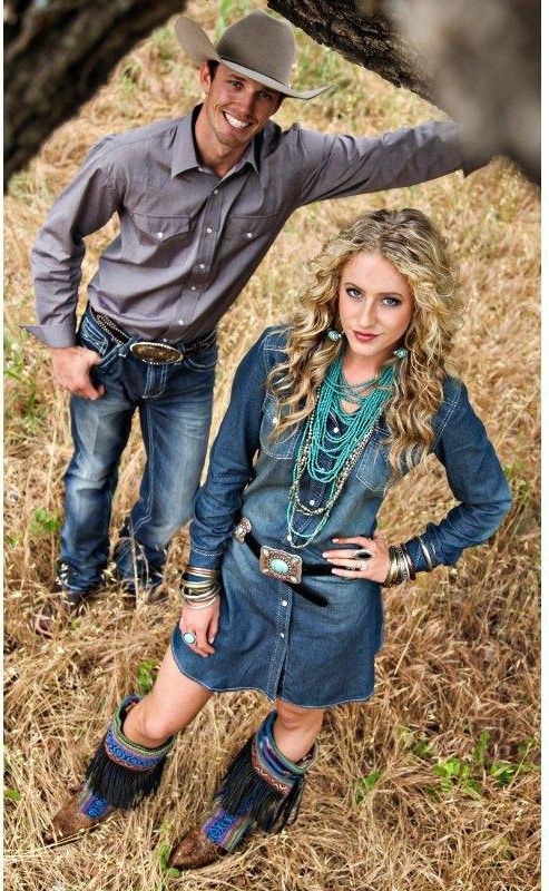 western outfits for a country couple. #cowboys #cowgirls