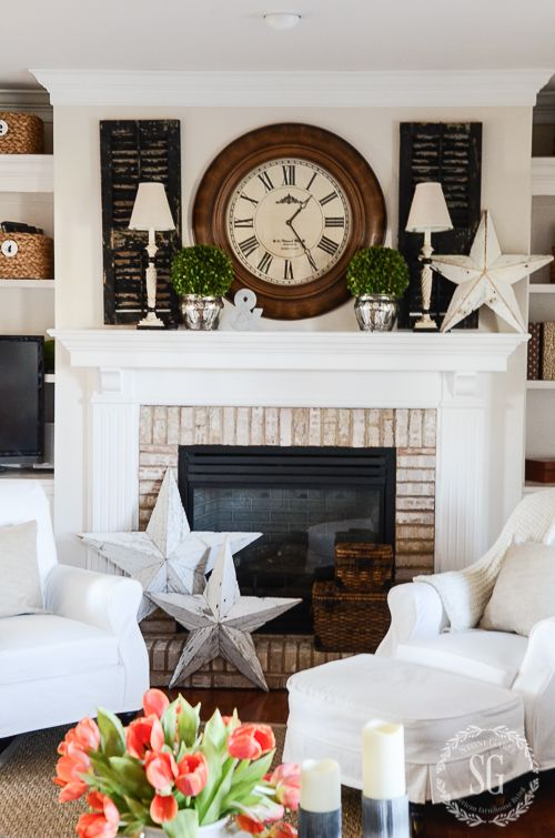 Family Room With Fireplace Decorating Ideas Part - 49: WINTER IN THE FAMILY ROOM. Mantle DecoratingMantles DecorFireplace MantleFireplace  IdeasFireplace ...
