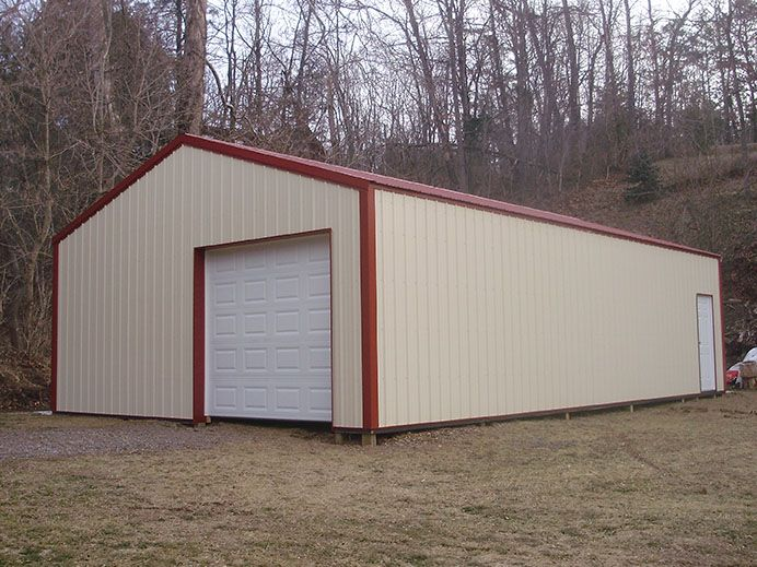 10 best pole building images on pinterest for Standard garage roof pitch