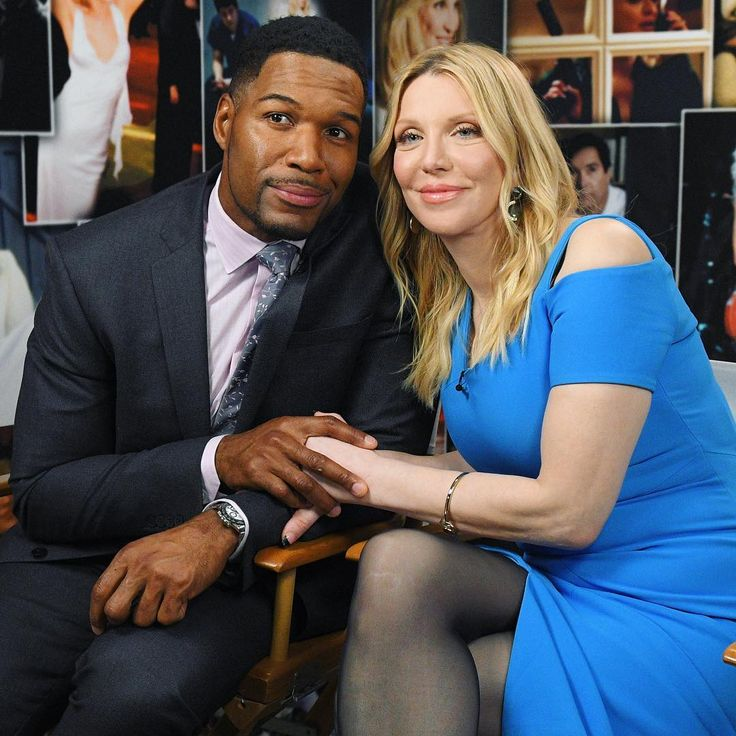 Mornings with @michaelstrahan and @courtneylove. See their full interview on GoodMorningAmerica.com!