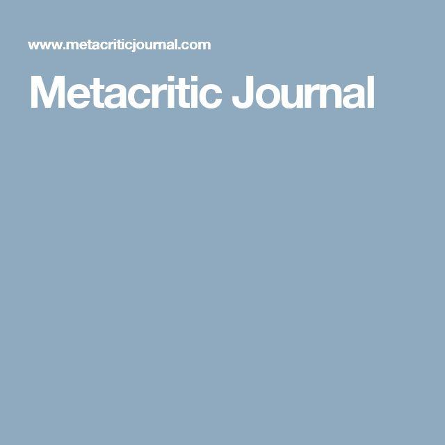 Metacritic Journal