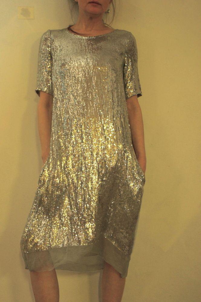 Hazel Brown — sequin dress