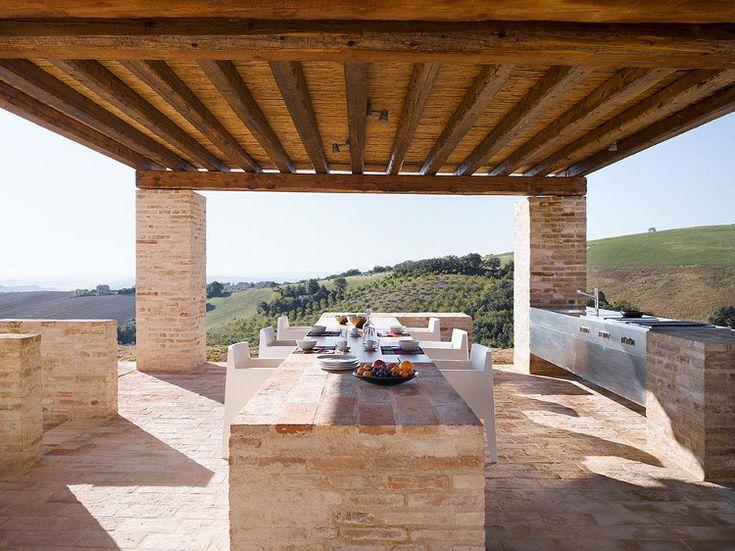 CasaOliviModern Farmhouse, Dining Area, Old Farmhouse,  Terraces, Outdoor Kitchens, Villas, Casa Olivier, Patios, Outdoor Spaces