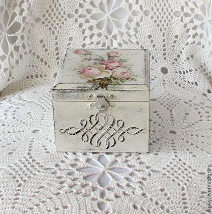 "Шкатулка шебби-шик "" Розы "" - шебби шик,подарок,эксклюзивный подарок,подарок женщине"