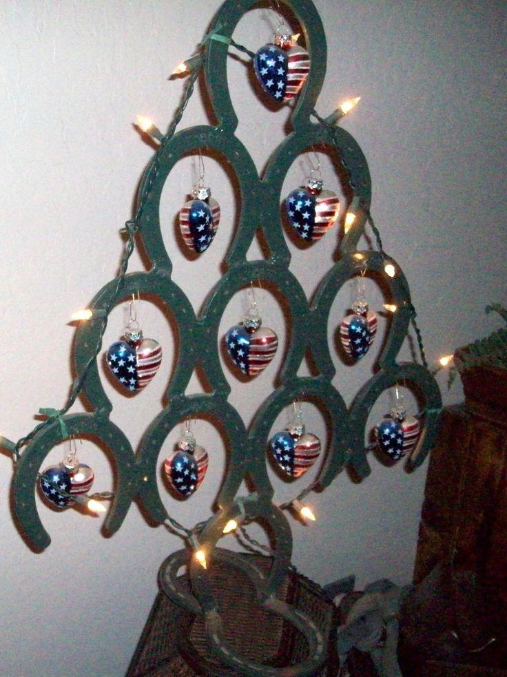 25 unique horseshoe christmas tree ideas on pinterest for Christmas tree made out of horseshoes